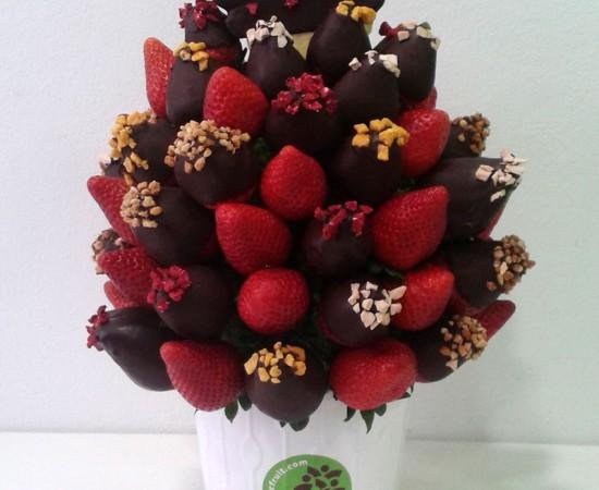 Ramo de frutas con chocolate