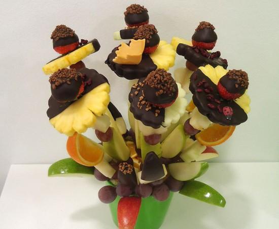 ram de fruita amb xocolata
