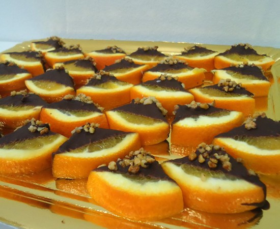 Naranja con Chocolate y Crocanti