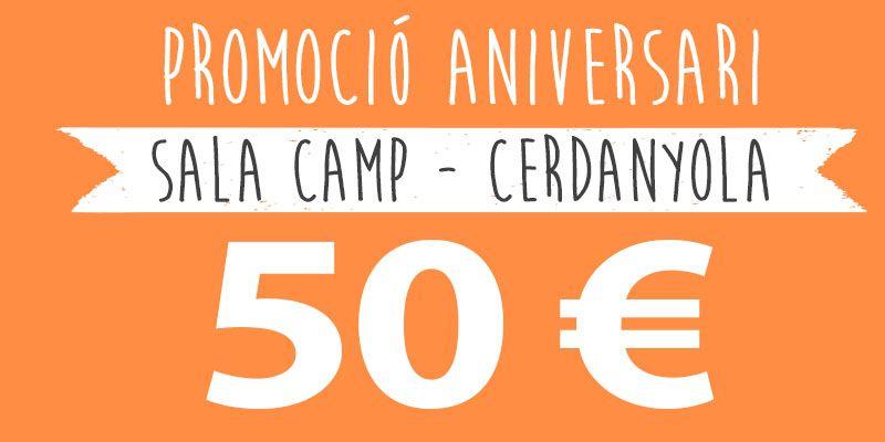 promocio aniversari 50 euros cerdanyola