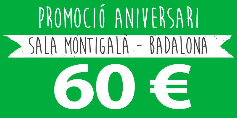 promocio festes infantils 60 euros montigala