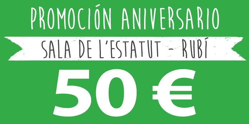 promoción aniversario 50 euros rubi
