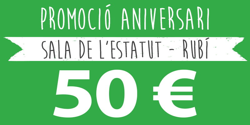 promocio aniversari 50 rubi