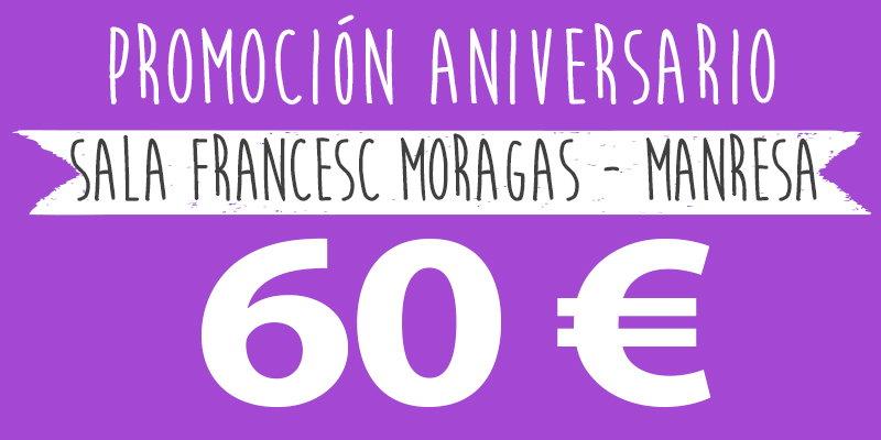 promoción aniversario 60€ manresa